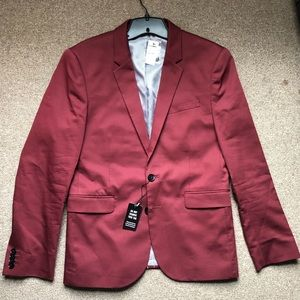 Express Extra Slim Red Men's 36R Dress Suit